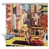 Vintage San Francisco Shower Curtain