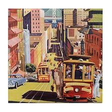 Vintage San Francisco Tile Coaster