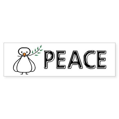White Dove Peace Bumper Sticker