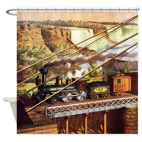 Vintage Train Shower Curtain by iloveyou1