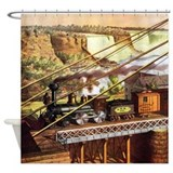 Niagara falls train Shower Curtains