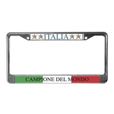 Unique Italia soccer License Plate Frame