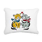 Cats In Love Rectangular Canvas Pillow