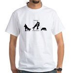 German Shepherd White T-Shirt
