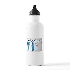 gay couple men just married Water Bottle
