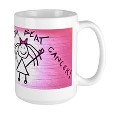 My mom beat breast cancer Mug