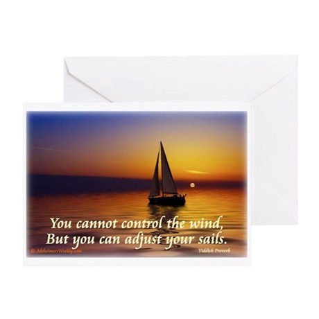 'Adjust Your Sails' Greeting Card