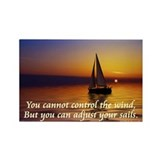 'Adjust Your Sails' Rectangle Magnet (10 pack)