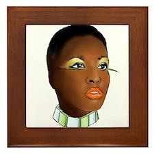 Lola: French Girl Framed Tile