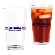 OBAMA BIDEN 2012 (w/ flags) Drinking Glass