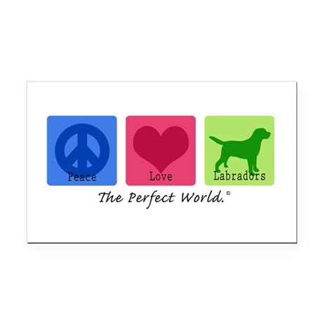 Peace Love Labs Rectangle Car Magnet