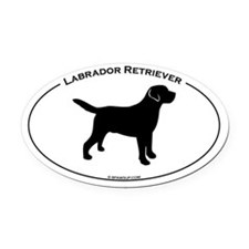 Labrador Oval Text Oval Car Magnet