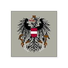 "Austria Coat Of Arms Square Sticker 3"" x 3"""