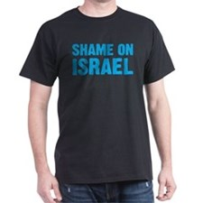 Shame on Israel Black T-Shirt