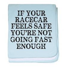 Funny Racing Saying baby blanket