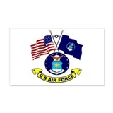 USAF-USA Flags Wall Decal