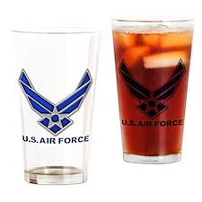 USAF 3 Diamond Symbol Drinking Glass