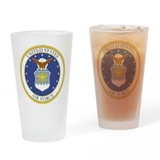 USAF Coat of Arms Drinking Glass