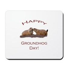 Groundhog Day Kiss Mousepad