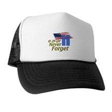 Never Forget 9-11 - With Buildings Trucker Hat