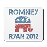 Vintage Romney Ryan R Mousepad