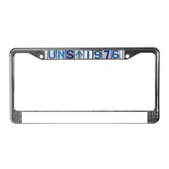 UNS 1976 License Plate Frame