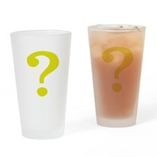 Fancy Question Mark Drinking Glass