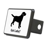 Got Labs? Silhouette Rectangular Hitch Cover