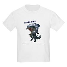 Chace Lobleys Shark man. Kids Light T-Shirt