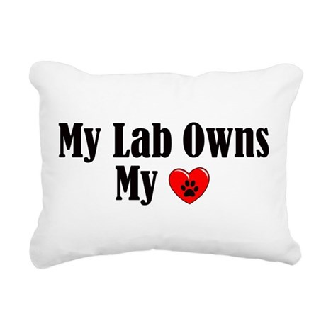 Lab Owns My Heart Rectangular Canvas Pillow