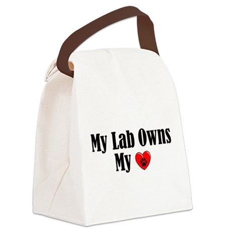 Lab Owns My Heart Canvas Lunch Bag