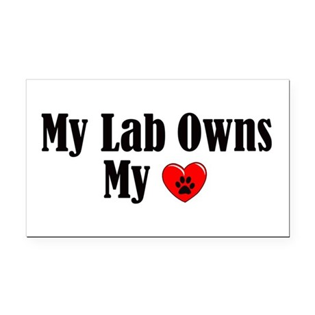 Lab Owns My Heart Rectangle Car Magnet