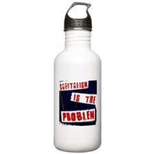 capitalism is the problem Water Bottle