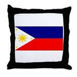 Filipino Pilipinas Blank Flag Throw Pillow