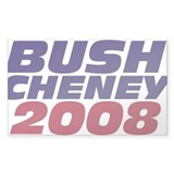 Bush 2008 Decal Rectangle Decal