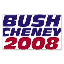 Bush 2008 Decal Rectangle Decal
