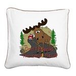 moose fun Square Canvas Pillow