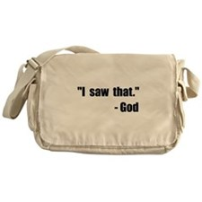 God Saw That Messenger Bag