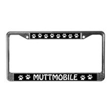 Muttmobile License Plate Frame