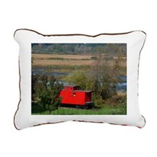 Caboose Whitehall, MI Rectangular Canvas Pillow