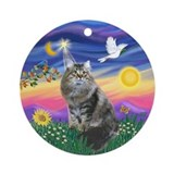 Twilight - Siberian Cat Ornament (Round)