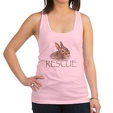 bunny rescue Racerback Tank Top