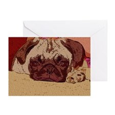 Cute Pug Puppy Greeting Cards (Pk of 10)