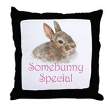 Somebunny Special Throw Pillow