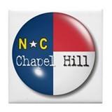 Chapel Hill North Carolina Flag Tile Coaster