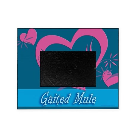 gaited mule picture frame for a 4