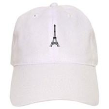 Eiffel Tower Black Baseball Cap