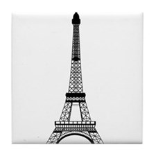 Eiffel Tower Black Tile Coaster