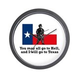 Crockett Quote Wall Clock