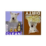 Cute Bull terrier dog breed Rectangle Magnet